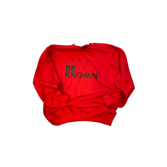 Jesus Be Knowin' | Red + Black Tee/Sweatshirt