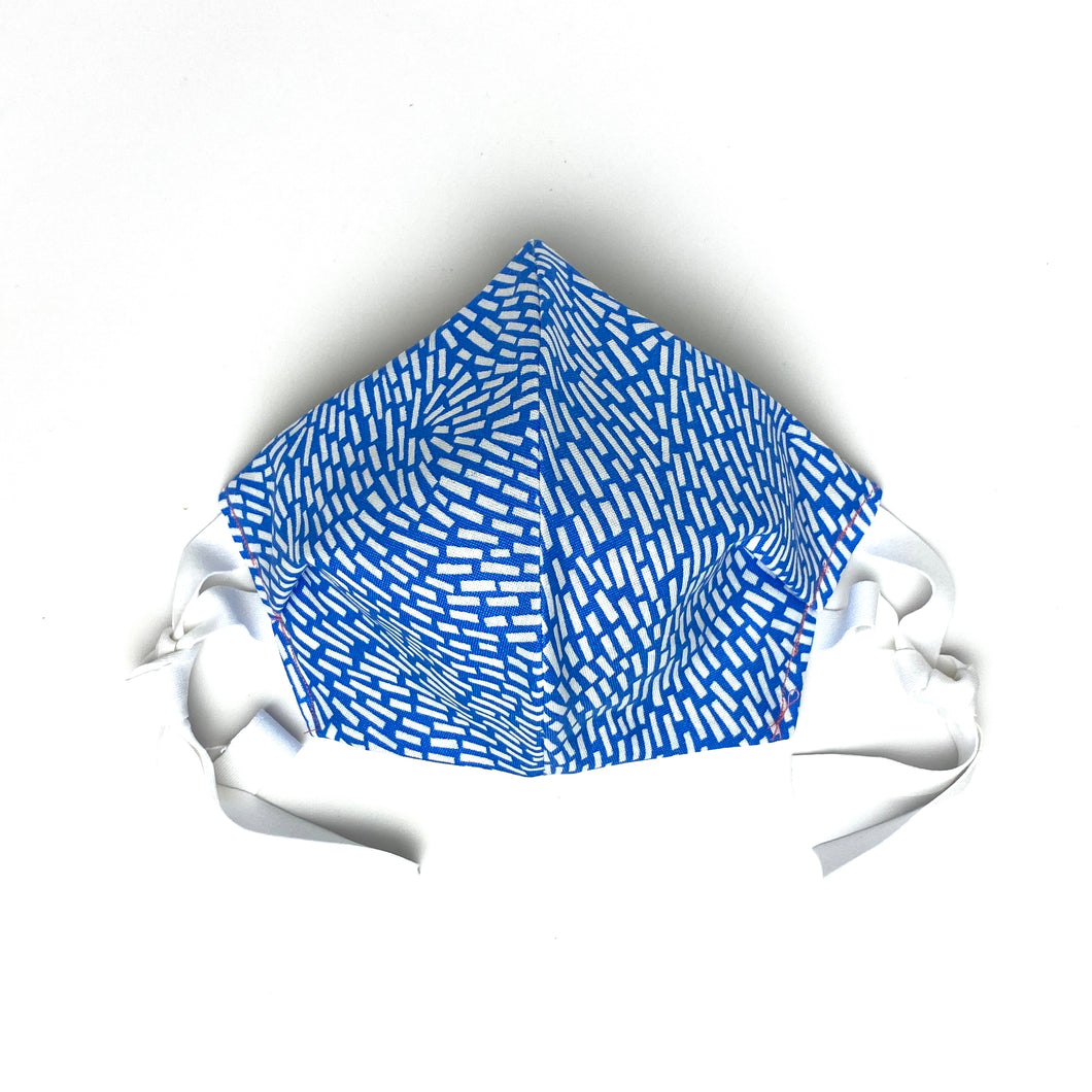 BLUE & WHITE, ADULT FACE MASK - Bee Our Guest