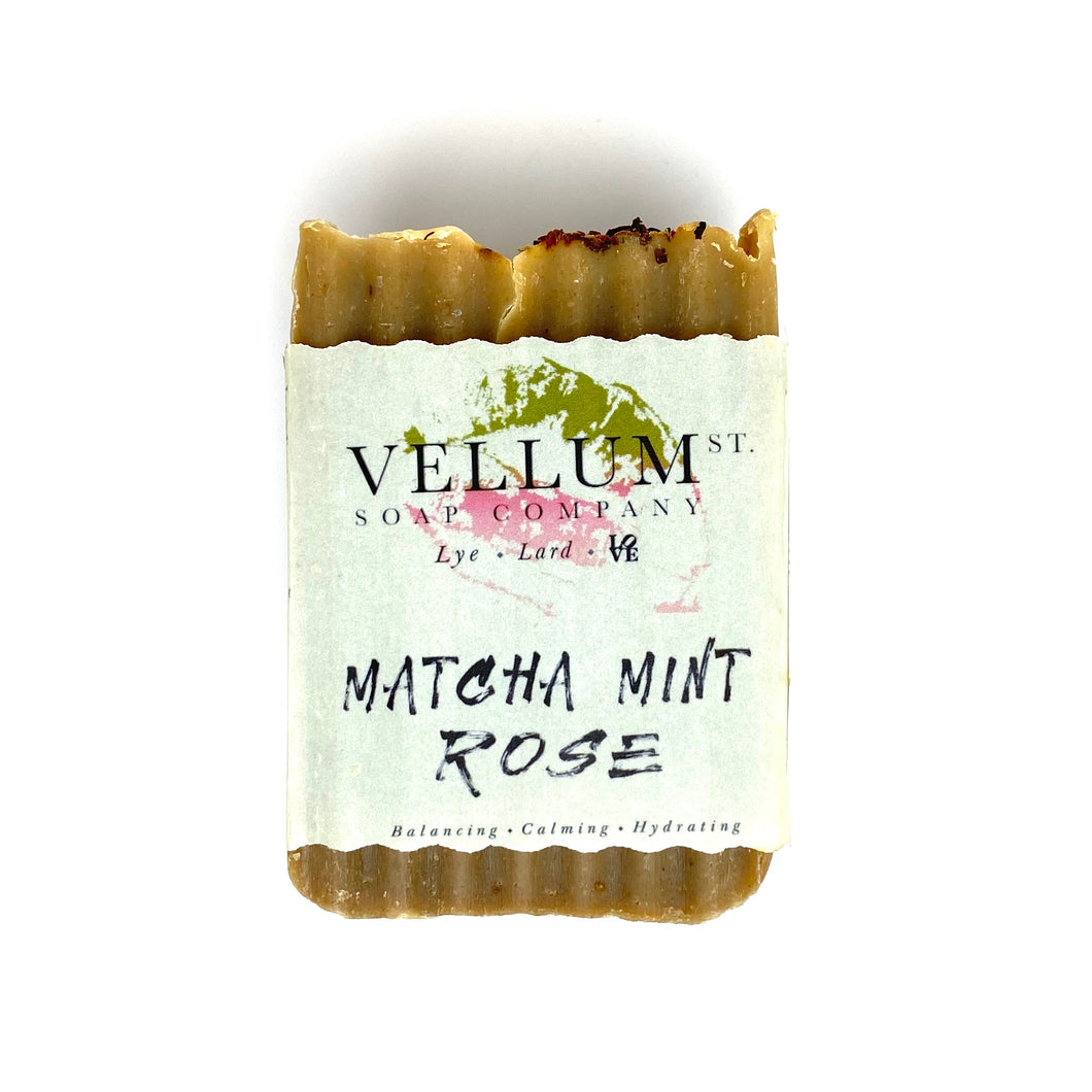 MATCHA MINT ROSE SOAP - Bee Our Guest