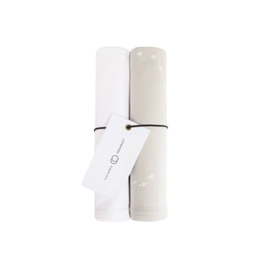 Hayes Silicone + Wood Teether Ring - Grey - Honey Bug