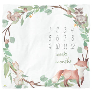 Cutie Captures™ Woodland Milestone Blanket - Honey Bug