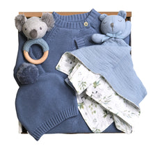 Load image into Gallery viewer, Spring Baby Gift Box - Blue Romper - HoneyBug