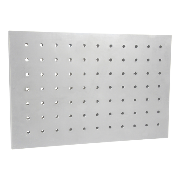 PVC plate with precise perforations