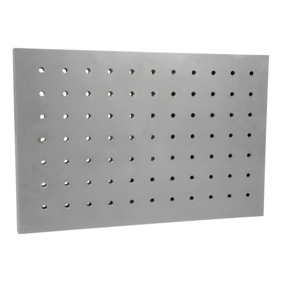 Aluminium plates with precise perforations