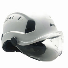 Load image into Gallery viewer, PPE Safety Helmet with built in safety goggles