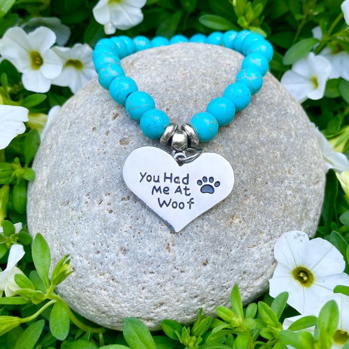 You Had Me at Woof Turquoise Bracelet