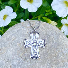 Load image into Gallery viewer, Paw Mom Love Cross Necklace
