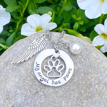 Load image into Gallery viewer, My Angel Has Paws Necklace