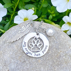 My Angel Has Paws Necklace