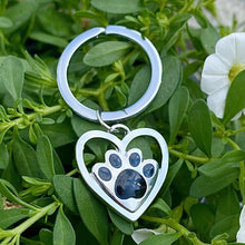 Load image into Gallery viewer, Paw Heart Keychain