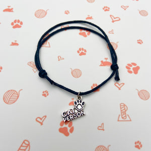 Cat Person String Bracelet