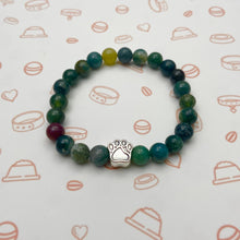 Load image into Gallery viewer, India Agate Stone Paw Bracelet
