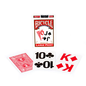 Image of Bicycle Large Print Red Bridge Playing Cards
