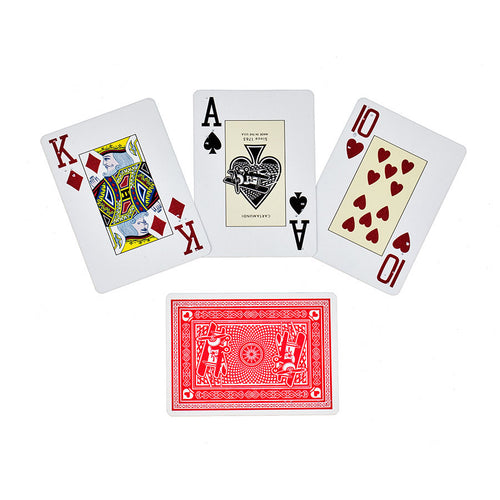 English Braille Red Poker Playing Cards