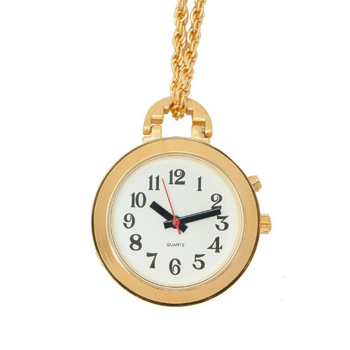 Talking Gold Finish 27in Pendant Watch