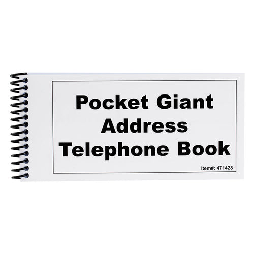 Pocket Address Book Large Print
