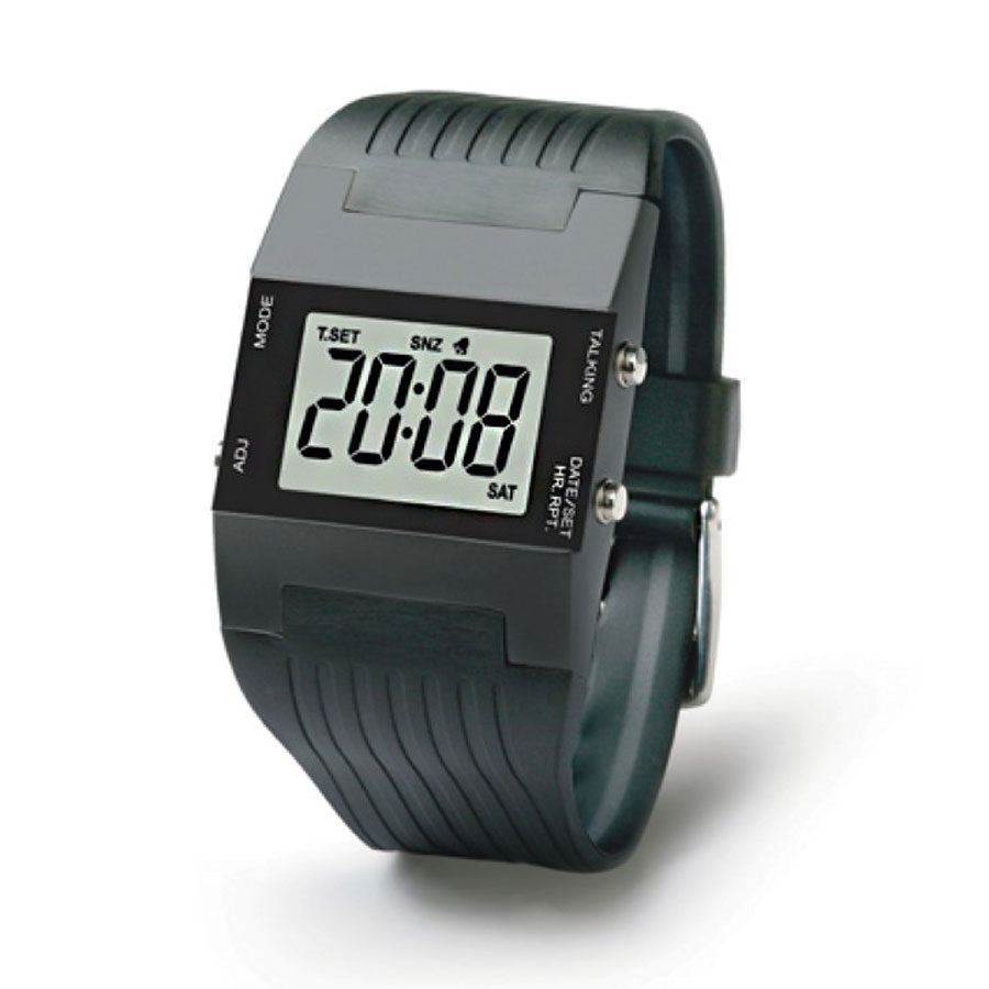Image of Unisex Talking Digital Alarm Watch Black V2
