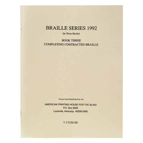 Teachers Manual Braille Series Book 3