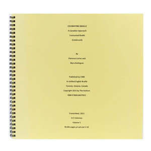 Image of Celebrating Braille Vol 5 UEB A Canadian Approach SP NR