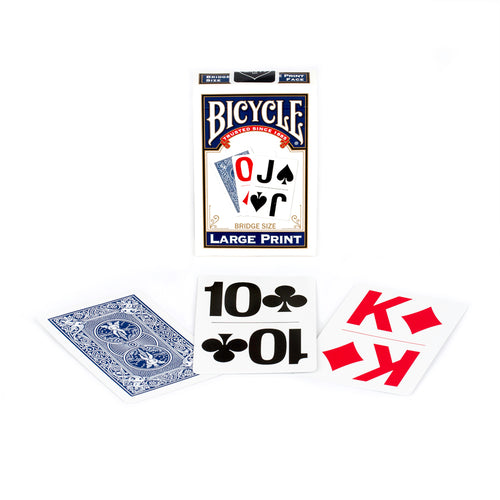 Bicycle Large Print Blue Bridge Playing Cards