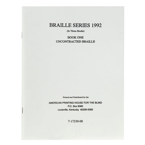 Teachers Manual Braille Series Book 1