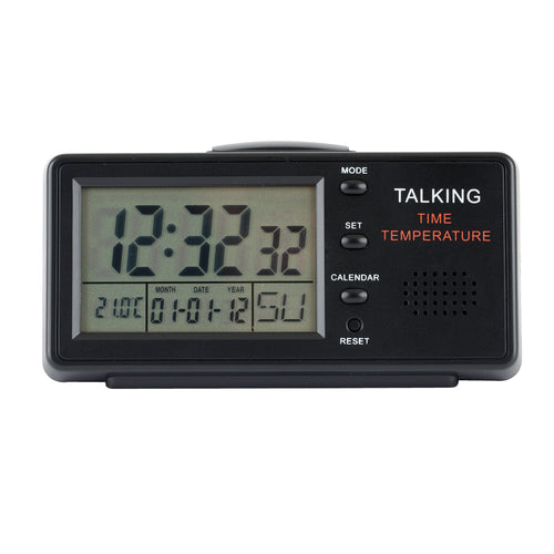 Talking Clock With Alarm And Date - English