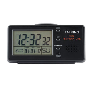 Image of Talking Clock With Alarm And Date - English