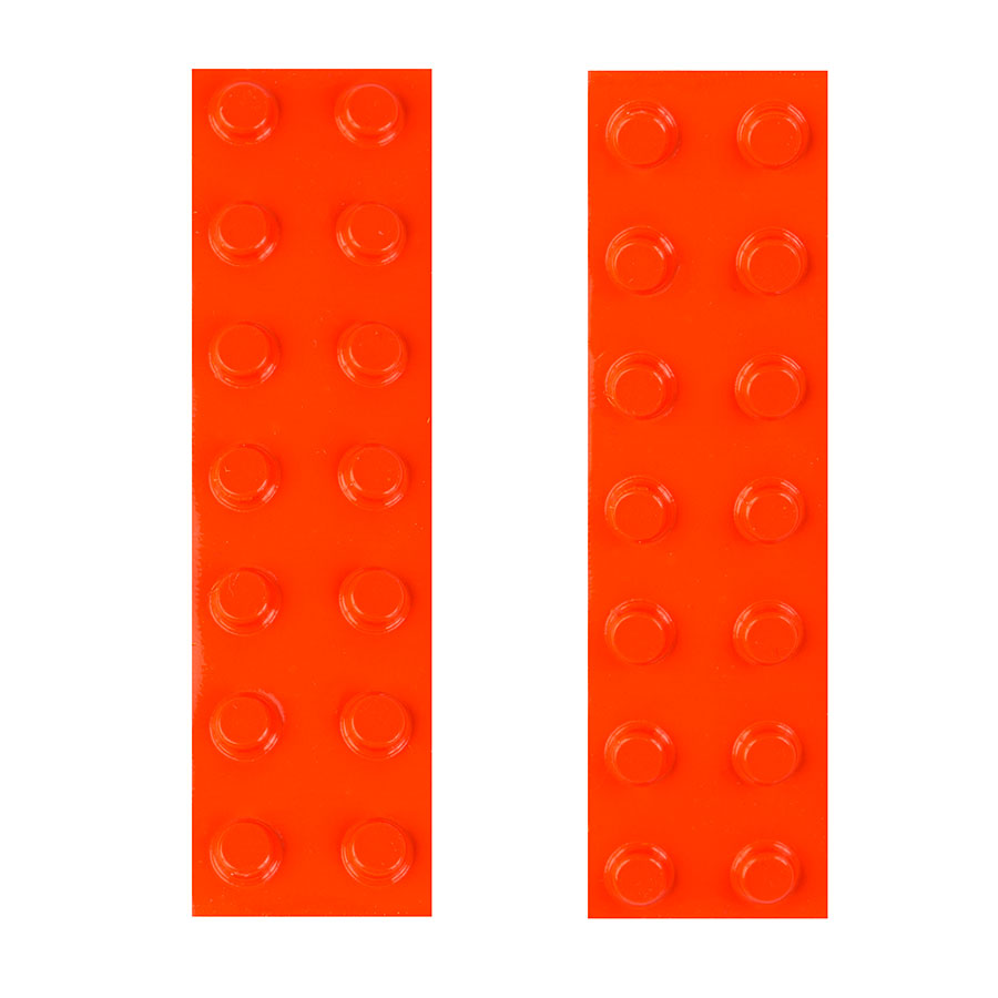 Image of Bump-Dots Orange - Small 28/Pack