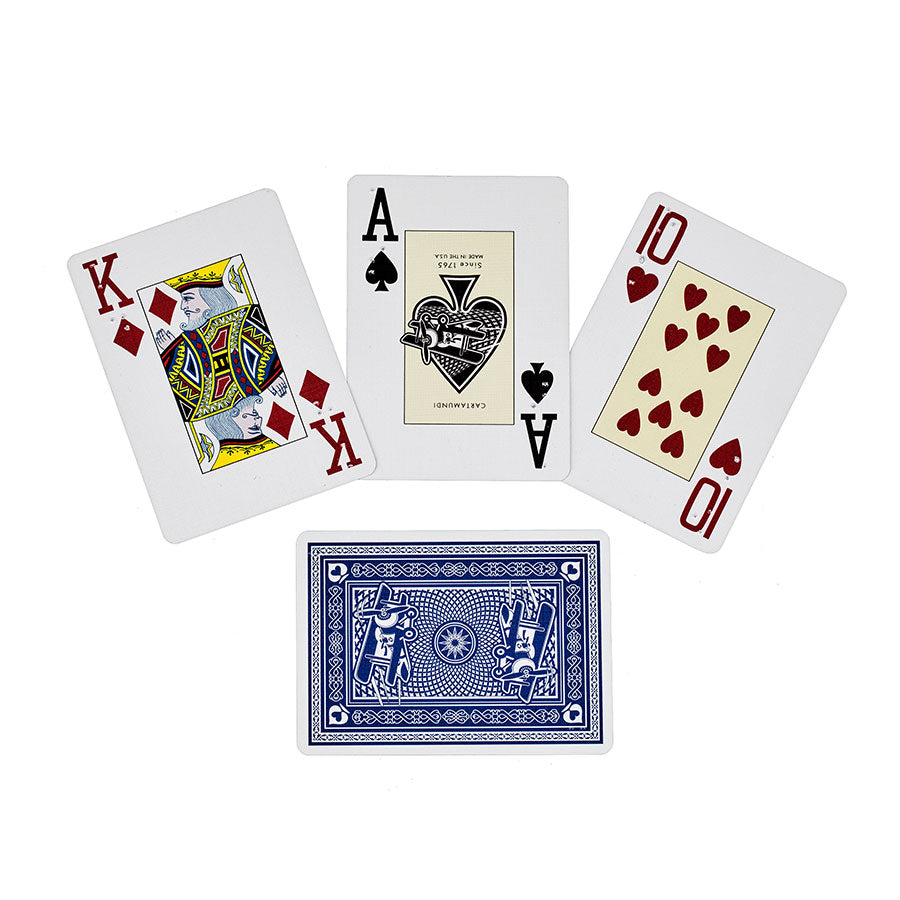 Image of English Braille Blue Poker Playing Cards