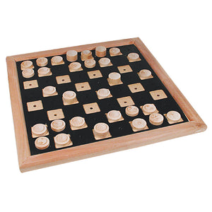 Image of Tactile Checker Set Wood Deluxe