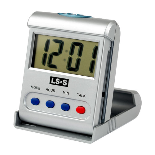 Talking Travel Alarm Clock 4 Button