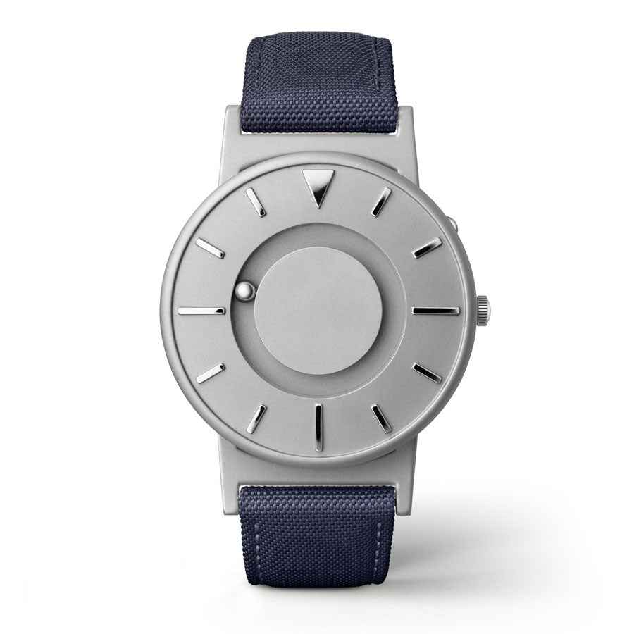 Image of Mens Bradley Tactile Watch Blue Fabric/Leathr Strap