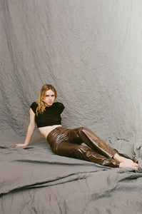 Daisy Trousers - Brown Vinyl