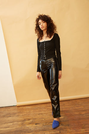 Daisy Trousers - Black Vinyl