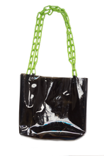 Load image into Gallery viewer, Poison Ivy Bag - Black/Tortoise Chain