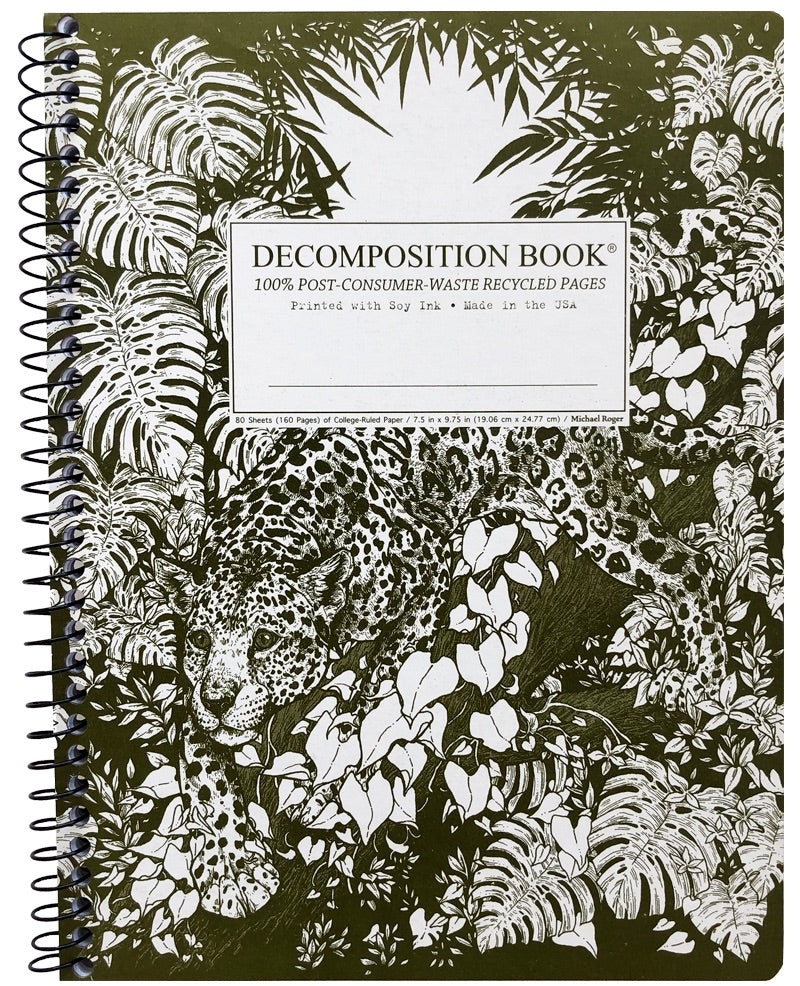 Jaguar Spiralbound Decomposition Notebook