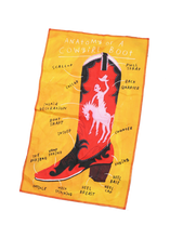 Load image into Gallery viewer, Cowgirl Boot Tea Towel
