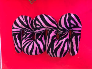 Pink Zebra Squiggle Pillow - Small