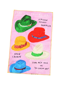 Hats Tea Towel