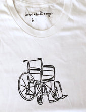 Load image into Gallery viewer, Wheelchair T Shirt - White