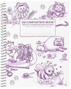 Costume Cats Spiralbound Decomposition Notebook