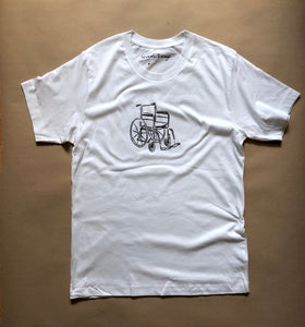 Wheelchair T Shirt - White