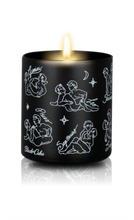 Load image into Gallery viewer, Sexy Astrology Body Oil Candles - All Signs - Black/Floral Scent - Large - Male/Male