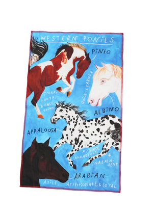 Ponies Tea Towel