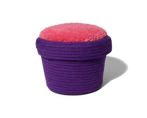 Small Tufted Basket - Purple/Pink