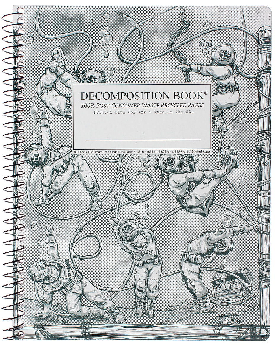 Deep Stretch Spiralbound Decomposition Notebook