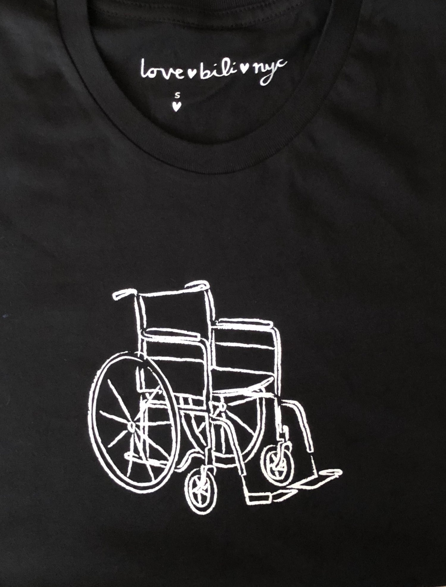 Wheelchair T Shirt - Black