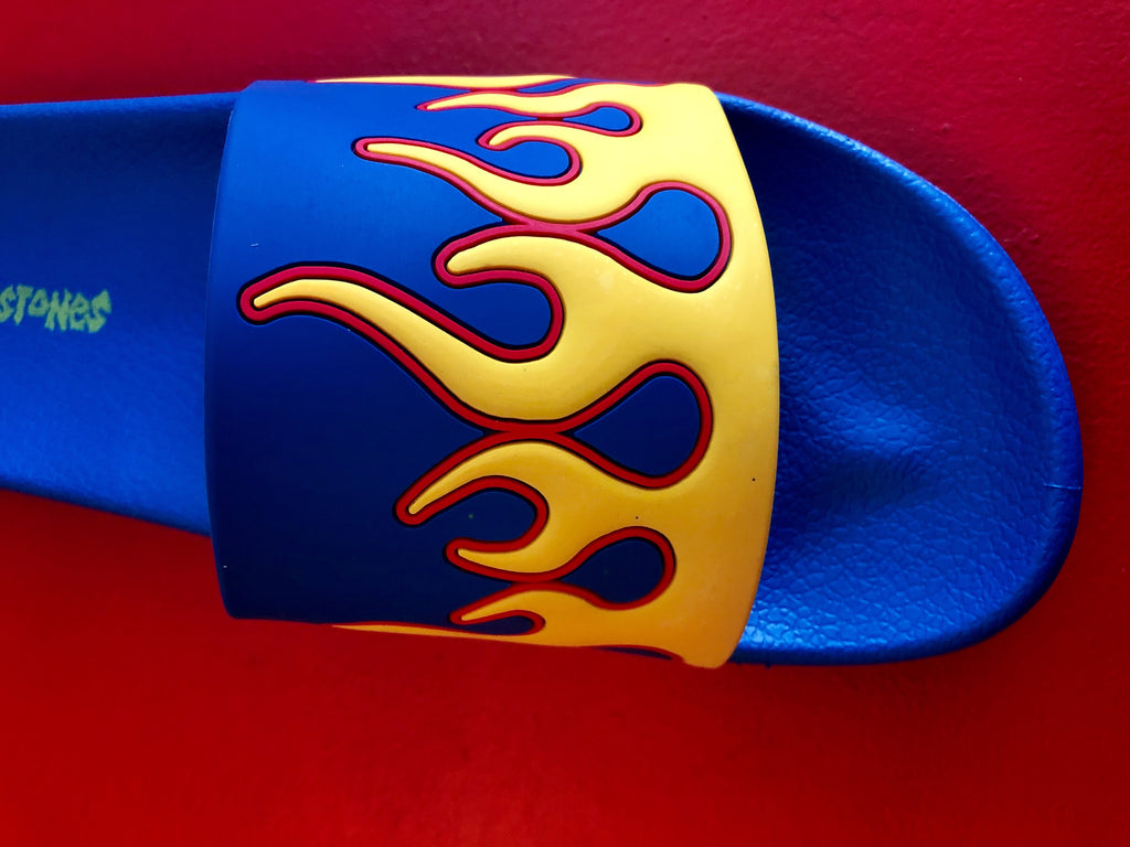 Flame Slides - Blue/Yellow