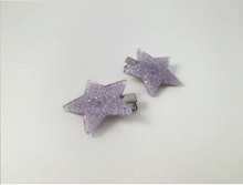 Load image into Gallery viewer, Bowie Star Clip - Purple Glitter