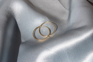 Grand Fino Solid Gold Hoops